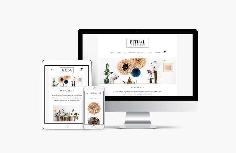 Ritual Interiors responsive e-shop