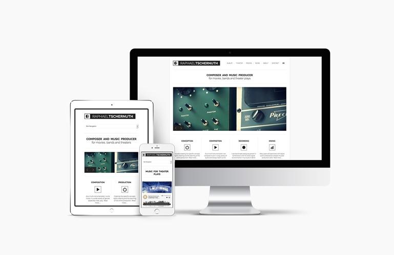 Web design site tschernuth.com